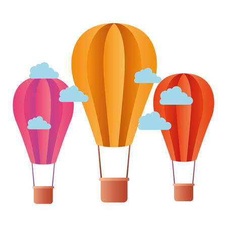 aerostatic balloons isolated icon vector illustration design