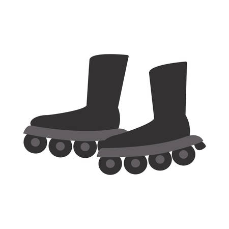 roller skates isolated icon vector illustration desing