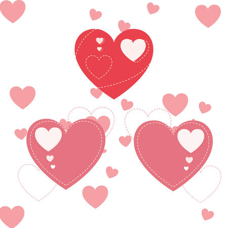 hearts pattern background isolated icon vector illustration desing Stock Illustratie