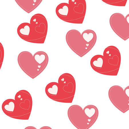 hearts pattern background isolated icon vector illustration desing Vettoriali