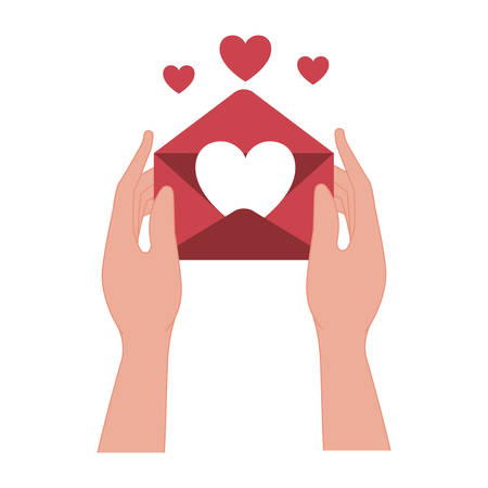 hands lifting love heart isolated icon vector illustration desing