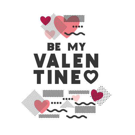 be my valentine isolated icon vector illustration design