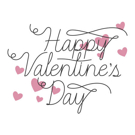 happy valentines day label isolated icon vector illustration desing