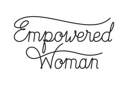 empowered woman label isolated icon vector illustraon desing