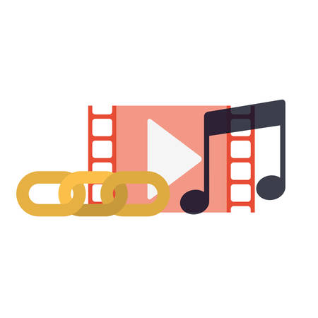 musical note with set of icon vector illustration desing
