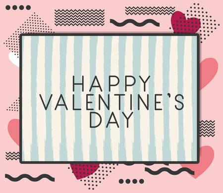 happy valentines day card vector illustration design Illustration