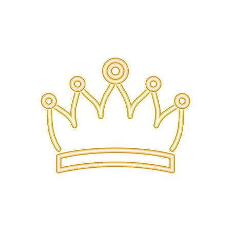 crown silhouette isolated icon vector illustration desing