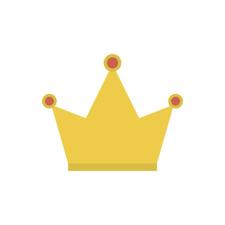 golden crown isolated icon vector illustration desing