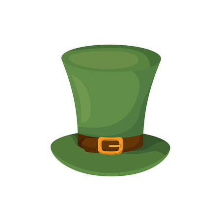 leprechaun hat isolated icon vector illustration desing Vectores