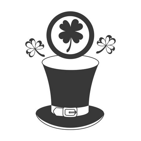 leprechaun hat isolated icon vector illustration desing