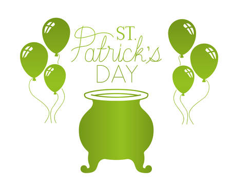 s.t. patrick`s day label isolated icon vector illustration desing