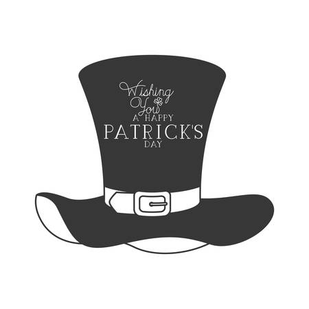 wishing you a happy st patrick`s day icons vector illustration desing