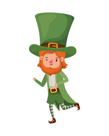 leprechaun standing avatar character vector illustration desing