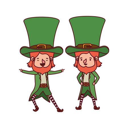 leprechauns standing avatar character vector illustration desing