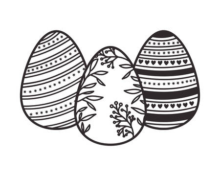 easter eggs isolated icon vector illustration desing