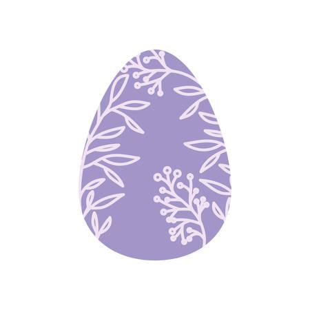easter egg isolated icon vector illustration desing Illustration