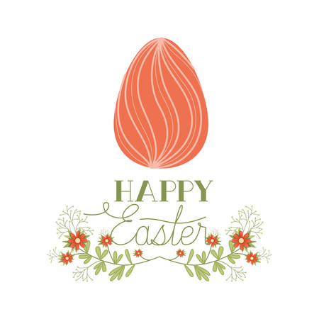 happy easter label isolated icon Vettoriali