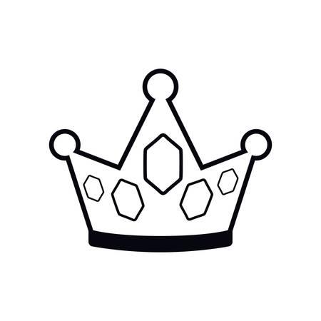 golden crown pop art icon vector illustration design