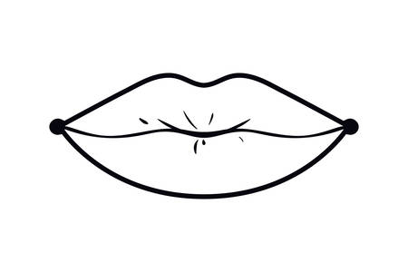 female lips pop art style isolated icon vector illustration design Vectores