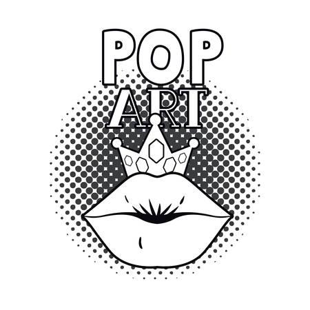 female lips dripping isolated icon vector illustration design Illustration