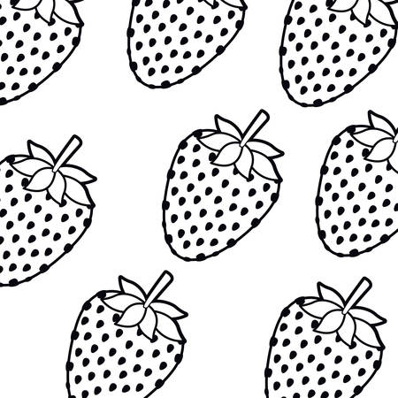pattern strawberry isolated icon vector illustration desing