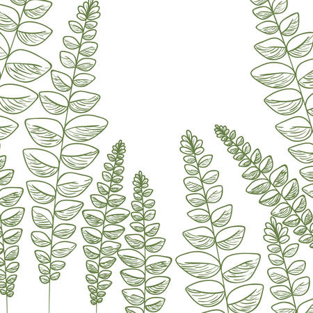 pattern flowers and leafs isolated icon vector illustration desing Banco de Imagens - 125051260