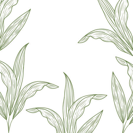 pattern flowers and leafs isolated icon vector illustration desing Stock Illustratie