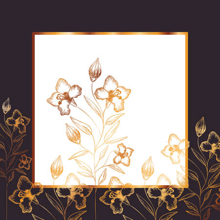 pattern flowers and leafs isolated icon vector illustration desing Ilustração