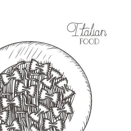 delicious pasta italian isolated icon vector illustration desing