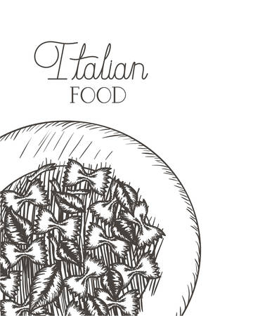 delicious pasta italian isolated icon vector illustration desing
