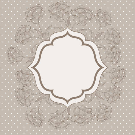 roses flowers decorative victorian frame vector illustration design Ilustracja