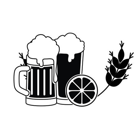 beer with foam isolated icon vector illustration design 向量圖像