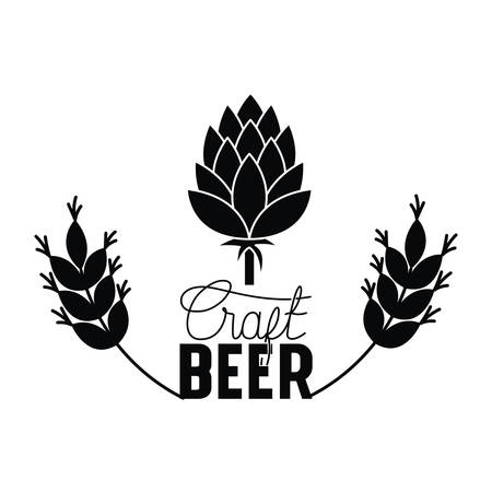craft beer label with pinecone isolated icon vector illustration desing Vektorové ilustrace