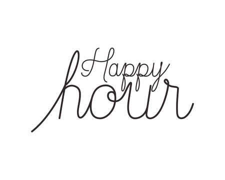happy hour label icon vector illustration desing Stock Vector - 124436090