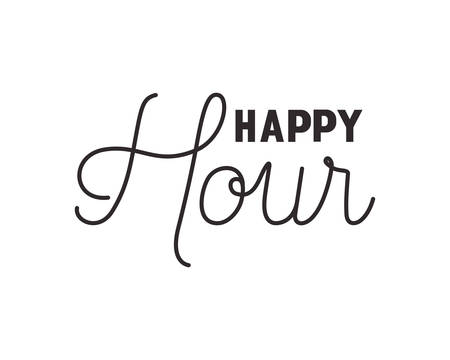happy hour label icon vector illustration desing Stock Vector - 124436091