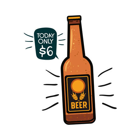 bottle of beer isolated icon vector illustration design