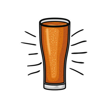 glass with beer isolated icon vector illustration design Illustration