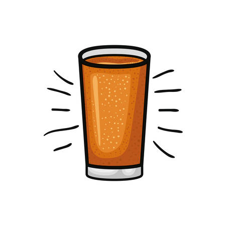 glass with beer isolated icon vector illustration design 向量圖像