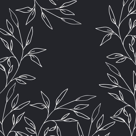 pattern plants and herbs isolated icon vector illustration desing