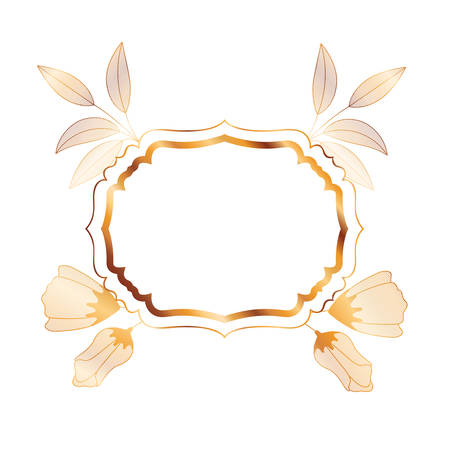 frame with plants and herbs isolated icon vector illustration desing Imagens - 118811808
