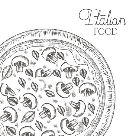 delicious italian pizza isolated icon vector illustration desing