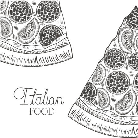 delicious italian pizza isolated icon vector illustration desing