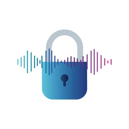 security padlock isolated icon vector illustration design Illustration