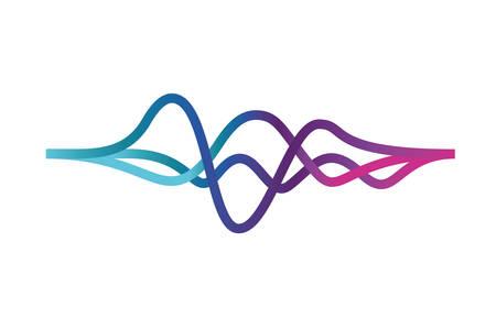 Schallwelle isoliert Symbol Vektor Illustration Design
