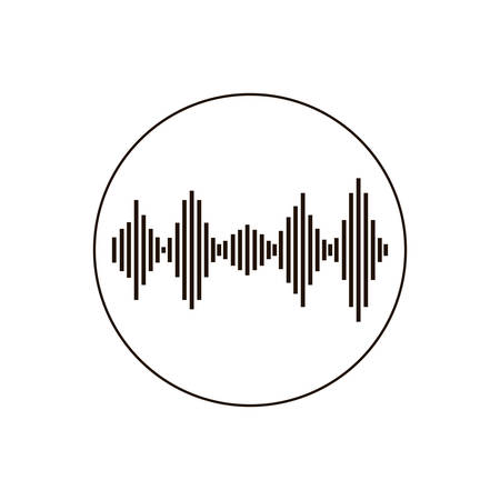 geluidsgolf geïsoleerd pictogram vectorillustratieontwerp