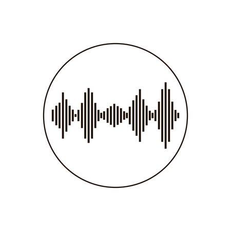 onda sonora icona isolata illustrazione vettoriale design