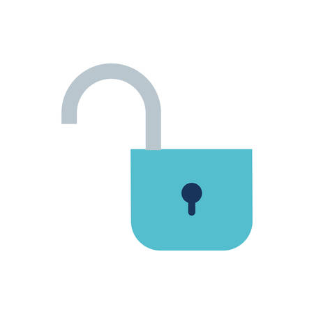 open security padlock isolated icon vector illustration design