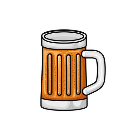 glass with beer isolated icon vector illustration Ilustrace