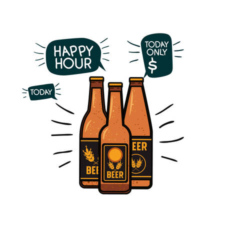 bottle of beer isolated icon vector illustration