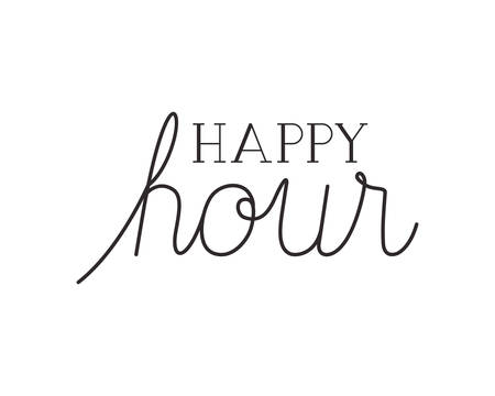 happy hour label icon vector illustration Illusztráció